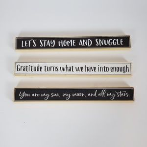 Wood Sign Let's Stay Home and Snuggle